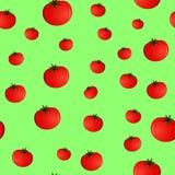 Modello senza cuciture con i pomodori Fotografia Stock Libera da Diritti