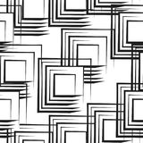 Modello senza cuciture con i quadrati astratti in bianco e nero Fotografia Stock Libera da Diritti