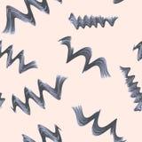 Modello senza cuciture con i riccioli a spirale Vettore Fotografia Stock Libera da Diritti