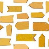 Modello senza cuciture con i segni di legno, illustrazione di vettore Fotografie Stock Libere da Diritti
