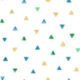 Modello senza cuciture con i triangoli luminosi dell'acquerello Illustrazione di vettore Immagini Stock Libere da Diritti
