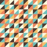 Modello senza cuciture con i triangoli multicolori Fotografia Stock Libera da Diritti