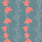 Modello senza cuciture con i tulipani illustrazione di stock