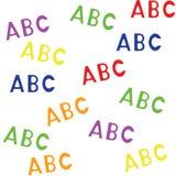 Modello senza cuciture con il ABC delle lettere illustrazione di stock