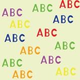Modello senza cuciture con il ABC delle lettere royalty illustrazione gratis