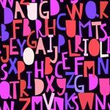 Modello senza cuciture con il ABC o l'alfabeto illustrazione di stock