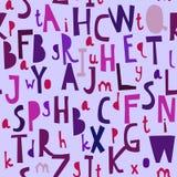 Modello senza cuciture con il ABC o l'alfabeto royalty illustrazione gratis