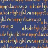 Modello senza cuciture con il ABC o l'alfabeto Immagini Stock Libere da Diritti