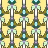Modello senza cuciture con il bello ornamento del mosaico Fotografie Stock Libere da Diritti