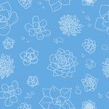 Modello senza cuciture con il cactus Illustrazione di vettore Royalty Illustrazione gratis