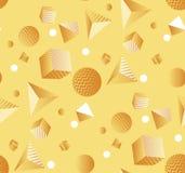Modello senza cuciture con il caos delle forme geometriche royalty illustrazione gratis