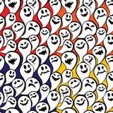 Modello senza cuciture con il fondo felice di Halloween del fantasma divertente Fotografia Stock