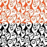 Modello senza cuciture con il fondo felice di Halloween del fantasma divertente Immagini Stock Libere da Diritti