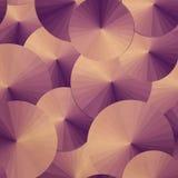 Modello senza cuciture con il mare degli ombrelli Copi il quadrato al lato Immagini Stock Libere da Diritti