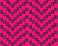 Modello senza cuciture con il nero quadrato di rosa degli elementi Modello rosa di illusione royalty illustrazione gratis