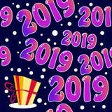 Modello senza cuciture 2019 con il presente royalty illustrazione gratis