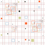 modello senza cuciture con il quadrato colorato Illustrazione Vettoriale