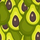 Modello senza cuciture con l'avocado royalty illustrazione gratis
