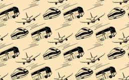 Modello senza cuciture con l'immagine di trasporto Immagini Stock Libere da Diritti