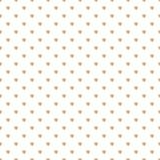 Modello senza cuciture con l'ornamento del pois di scintillio dell'oro su fondo bianco Immagine Stock