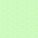 Modello senza cuciture con l'ornamento disegnato a mano su un fondo verde Fotografia Stock Libera da Diritti