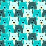 Modello senza cuciture con l'orso polare Immagine Stock