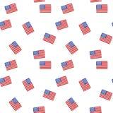 Modello senza cuciture con la bandiera americana Fotografie Stock
