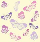 Modello senza cuciture con la farfalla con le ali trasparenti Fotografia Stock