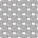 Modello senza cuciture con la linea cubi isometrici di stile Immagine Stock Libera da Diritti