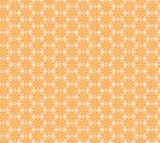 Modello senza cuciture con le arance e le foglie Immagini Stock