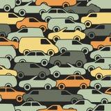 Modello senza cuciture con le automobili illustrazione di stock