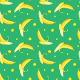 Modello senza cuciture con le banane Immagine Stock Libera da Diritti