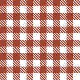 Modello senza cuciture con le bande ed i quadrati bianchi rossi Immagini Stock