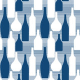 Modello senza cuciture con le bottiglie Immagine Stock Libera da Diritti