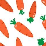 Modello senza cuciture con le carote Illustrazione di vettore illustrazione di stock