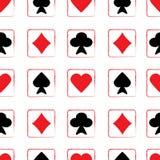 Modello senza cuciture con le carte da gioco Illustrazione di Stock