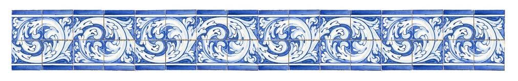 Modello senza cuciture con le decorazioni portoghesi tipiche con colore Immagini Stock Libere da Diritti
