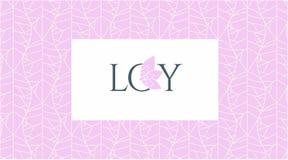 Modello senza cuciture con le foglie di colore beige su un fondo rosa illustrazione di stock