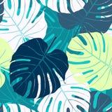 Modello senza cuciture con le foglie di palma illustrazione di stock