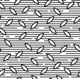 Modello senza cuciture con le forme grige e nere ed il fondo bianco Immagini Stock
