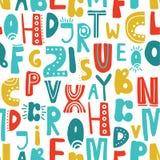Modello senza cuciture con le lettere latine illustrazione vettoriale