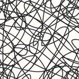Modello senza cuciture con le linee ondulate attraversate Struttura di griglia illustrazione vettoriale