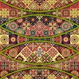 Modello senza cuciture con le mandale decorative Elementi d'annata della mandala Fotografie Stock