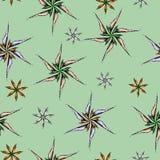 Modello senza cuciture con le mattonelle dell'ornamento dei fiori di vettore Strutture d'annata senza fine per la vostra progetta illustrazione vettoriale