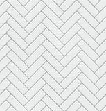 Modello senza cuciture con le mattonelle rettangolari moderne di bianco della spina di pesce Struttura diagonale realistica Illus illustrazione vettoriale