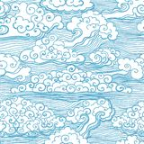 Modello senza cuciture con le nuvole. Vettore, ENV 10 Fotografie Stock