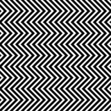 Modello senza cuciture con le onde verticali del triangolo illustrazione di stock