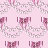 Modello senza cuciture con le perle 3 royalty illustrazione gratis