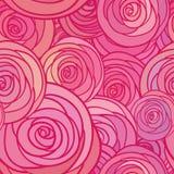 Modello senza cuciture con le rose dei fiori, illustrazione floreale Fotografie Stock Libere da Diritti