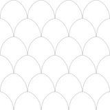 Modello senza cuciture con le uova Immagini Stock